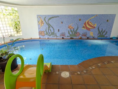 Photo for Club Villamar - Beautiful villa with private indoor pool situated in the center of a small villag...