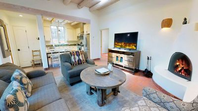 Photo for Short Walk to The PLAZA and 1 Block to The Georgia O'Keefe Museum! Beautiful 2 Bedroom Southwestern Style Pet Friendly Casita.