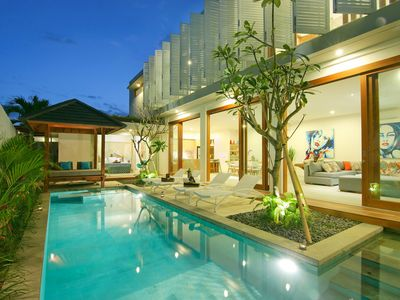 Photo for VILLA AZURE· Luxury & Indulgence in the centre of Seminyak.  Sleeps 8 pax, spacious and modern villa in a great location!!