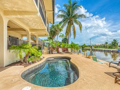 Photo for NEW LISTING! Waterfront home w/ ocean views, dock, & private outdoor pool