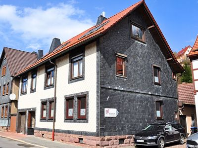 Photo for Barrier-free, modern apartment with terrace at the foot of Hallenburg Castle