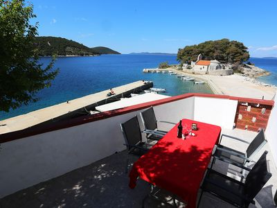 Photo for Apartments located directly on the sea, with sea views and wonderful views.
