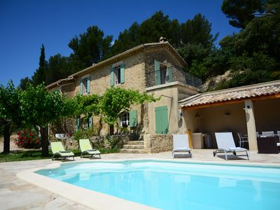 """Photo for Authentic Rustic Provençale Farmhouse """"Roumanille"""" With Pool & Countryside Views"""