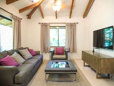 Photo for CASA MORPHO: A Cozy Tropical Home – 2 min walk to beach with Private Pool & BBQ