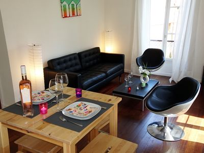 Photo for Cosy 3-room apartment in Villefranche-sur-mer, beach 15 minutes on foot!