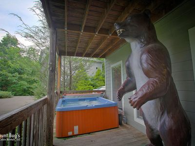 Photo for Smoky Mountain Chalet with Hot Tub, Game Room, Jukebox and Mountain Views