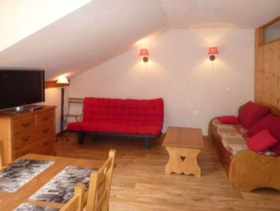 Photo for Surface area : about 35 m². 3rd floor. Orientation : South, West. View ski slopes and Swimming pool