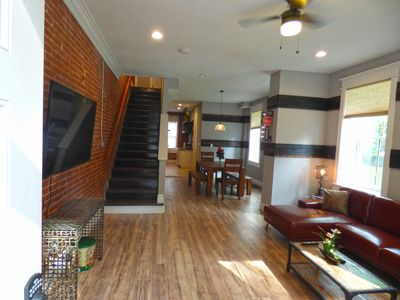 Photo for 1860s Historic Industrial Building +Loft- STYLISH New Remodel- ROMANTIC