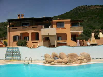 Photo for CHIA house in villa with stunning sea view and pool, garden wi-fi