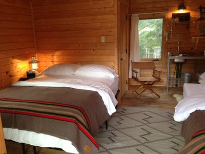 Sleeping Cabin 1 (sleeping cabin 2 is identical-each with  queen and twin bed).