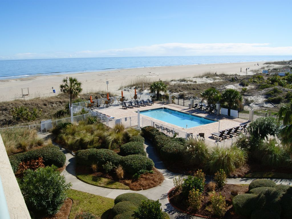 Tybee Vacation Condo With Oceanfront Pool Homeaway