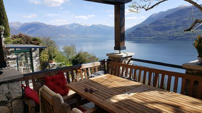 "Photo for Holiday house in Cannobio, overlooking the ""Lago Maggiore"" with garden and swimming pool"