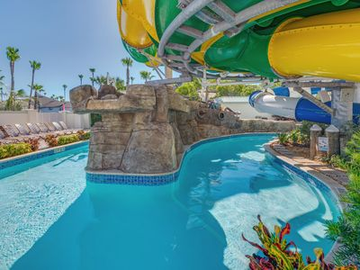 Photo for Sunrise Home. Water Park, 2 BDR/ 2 BA designer decorated waterfront condo.
