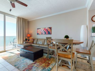 Photo for NEW LISTING! Waterfront condo w/ beach service, shared pool, hot tub, & gym