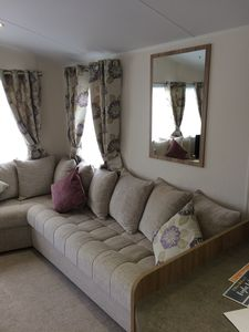 Photo for Luxury 3bed caravan with en-suite bathroom. Private parking and decking.