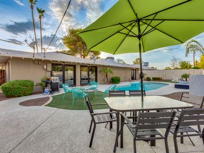 Photo for Relax Poolside in This Fully Renovated Luxury Old Town Scottsdale Property.
