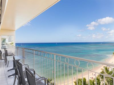 Photo for Beach Bliss w/Awesome View, Hawaii Decor, Free WiFi, Full Kitchen–Waikiki Shore  #802