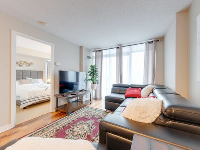 Photo for Modern Downtown Condo - 5ppl + Easy Parking + Gym