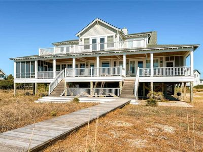 Photo for Oceanfront large home with wrap around porches, BHI