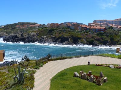 Photo for COLLIOURE Apartment SEA VIEW, near the beach (50m); classified Clévacances
