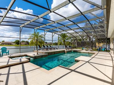 Photo for Spectacular Lake View home  minutes to Disney, newly refurnished and decorated