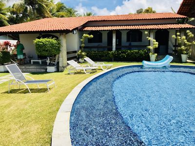 Photo for Beachfront house with pool on the idyllic beach of Catuama