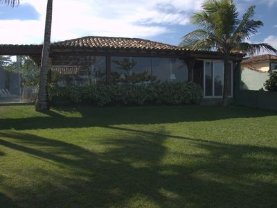 Photo for Beautiful house with six suites, facing Geribá Beach