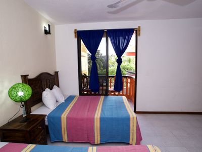 Photo for Villas Ximena #5 - Large downtown apartment for 8 people 90 meters from the beach