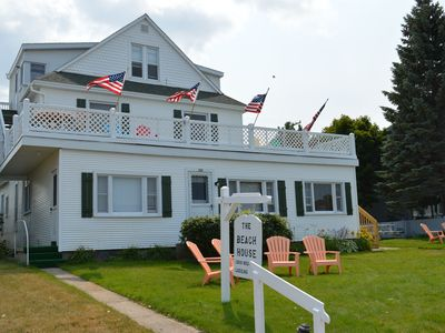 Photo for Beachfront Vacation on Crystal Lake, downtown Beulah