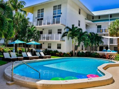 Photo for RARE FIND! TWO COMFY 2BR/2BA APARTMENTS, STEPS TO BEACH, POOL, PARKING, KITCHEN