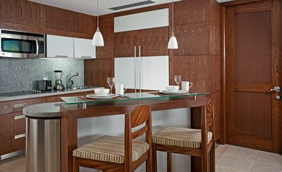 Kitchen of Grand Bliss Master Suite.