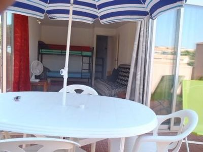 Photo for Gruissan apartment entirely renovated with large terrace open view on marina