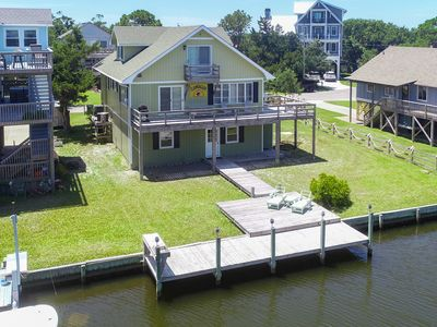 Photo for Clam Digger - Breathtaking 4 Bedroom Canalfront Home in Frisco