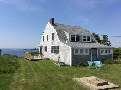 Photo for While more rustic charm, than modern elegance this is a true Maine cottage experience. Amazing views