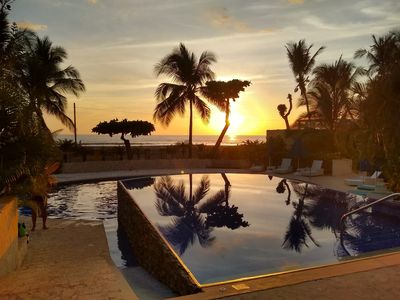 Photo for Oceanfront beachfront vacation rental luxurious apartment !!! best in jaco !!!