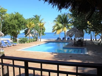 Photo for Family Friendly Private Eco Beach Resort, Pool, Dive Shop, Bar & Grill Onsite