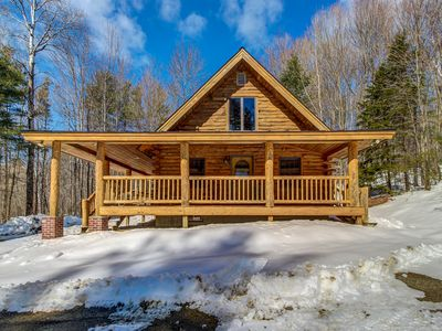 Photo for Log home perfect for a family getaway - 5 miles to Okemo Mtn Resort!