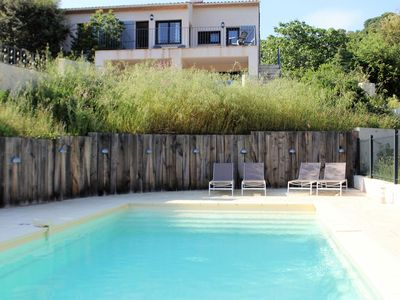 Photo for Southern French villa with private pool and beautiful view of the Mediterranean Sea