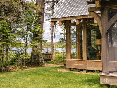 Photo for Ultimate Private Retreat – Waterfront Timber Frame Cabin -- Sleeps 6