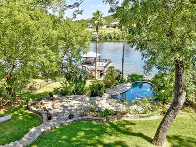 Luxe Lake Austin Estate with Pool & 2-Story Boat Dock Overlooking the Water