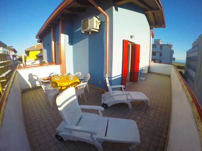 Photo for Attic Sea View Near Beach in Caorle - Beach Place with Sun Beds and Parasol
