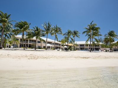 Photo for Modern Beach Chic 2 Bed Beach Front Apartment at Kaibo Yacht Club