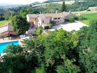 Photo for Villa with wonderful views over the Perugian Hills, with private pool