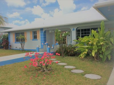 Photo for Spacious villa - 2 mins. to pristine beach, dock - Free golf cart, kayak, bikes