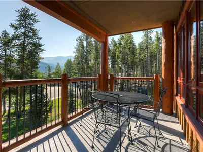 Photo for Large private balcony with gorgeous summer mountain views