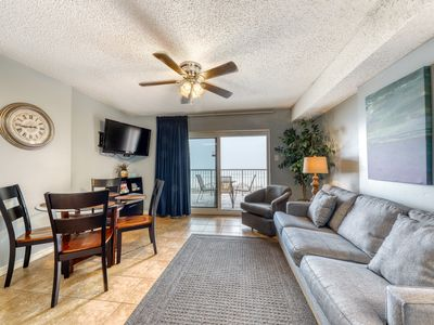 Photo for Gulf front condo w/ community pools and hot tub, fitness center, sauna, & grill