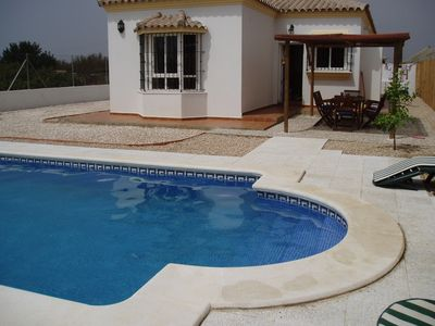 Pool at the back of the villa
