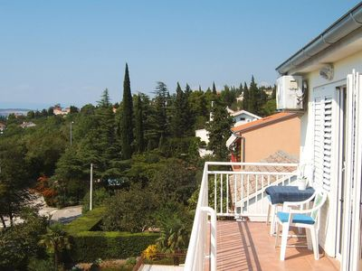 Photo for One bedroom apartment with balcony and sea view Dramalj, Crikvenica (A-9672-b)