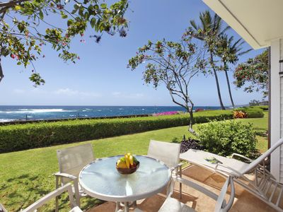 Photo for Poipu Kapili #11: OCEANFRONT AND WALK TO THE BEACH!  BEDROOM AC!