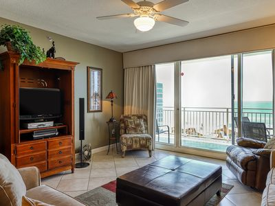 Photo for Shared swimming pool, fitness center, grill area - gulf views & private balcony!
